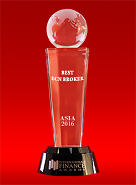 Best ECN Broker in Asia 2016 oleh International Finance Awards